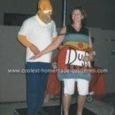 Homemade Homer Simpson and Duff Beer Can Costumes