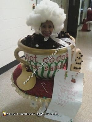 Homemade Hot Cocoa for Santa Halloween Costume Idea