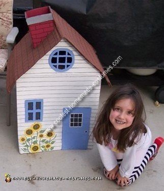 Homemade House That Fell On The Wicked Witch of The East Costume