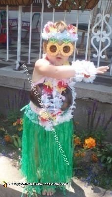 Homemade Hula Princess Costume
