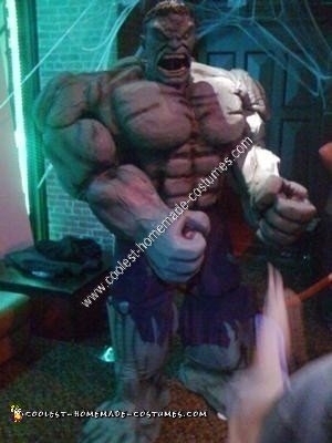 Homemade Hulk Unique Halloween Costume Idea