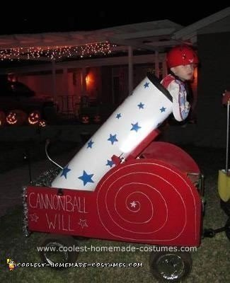 Homemade Human Cannonball Costume