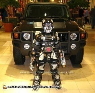 Homemade Hummer H2 Transformer Costume