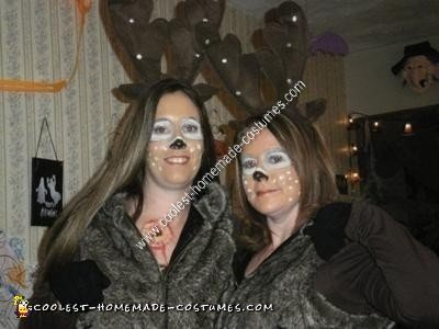 Homemade Hunter and Deer Halloween Couple Costume Idea