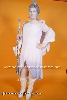 Homemade Ice Queen Costume