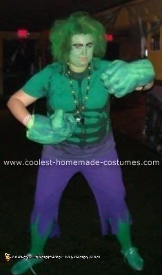 Homemade Incredible Hulk Costume
