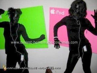 Homemade iPod Shadow Dancers Costumes