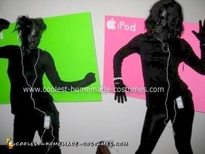 Homemade iPod Shadow Dancers Costumes