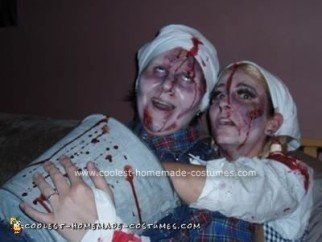 Homemade Jack and Jill Fell Down a Hill Costume