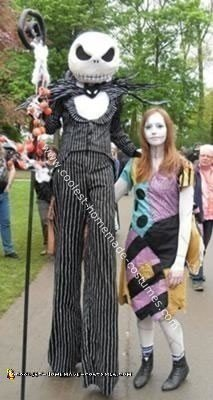 Homemade Jack and Sally Costumes