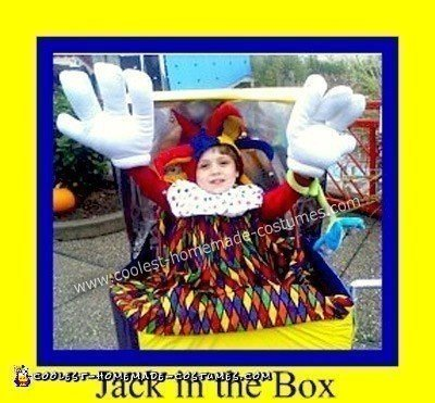 Homemade Jack in a Box Halloween Costume