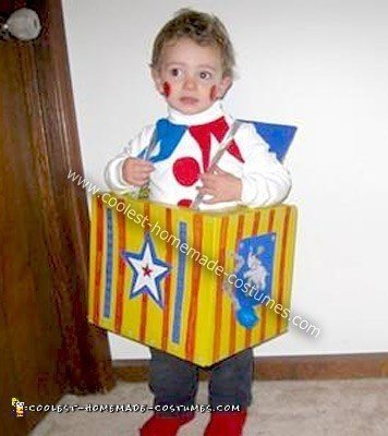 Homemade Jack in the Box Halloween Costume