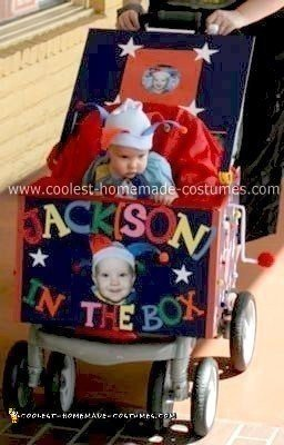 Homemade Jack in the Box Stroller Costume