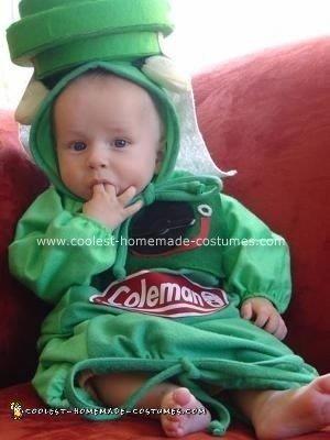 Homemade Jack O' Lantern Baby Costume