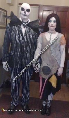 Homemade Jack Skellington and Sally Costume