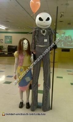 Homemade Jack Skellington and Sally Costume