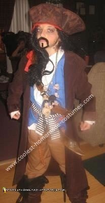 Homemade Jack Sparrow Pirate Child Costume