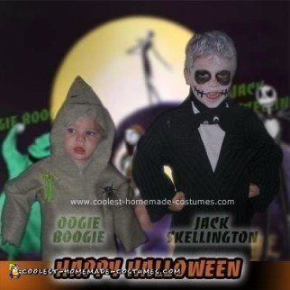 Homemade Jack the Pumpkin King and Oogie Boogie Costumes