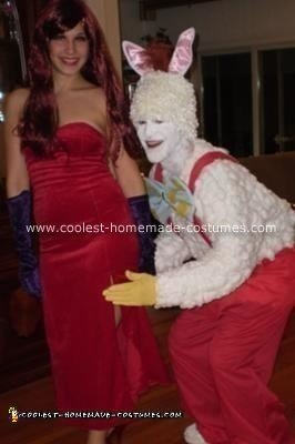 Homemade Jessica and Roger Rabbit Halloween Costume
