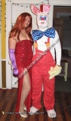 Homemade Jessica Rabbit and Roger Rabbit Couple Costume