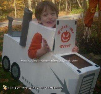 Homemade Jet Truck Halloween Costume