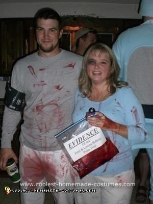 Homemade John and Lorena Bobbitt Couple Costume