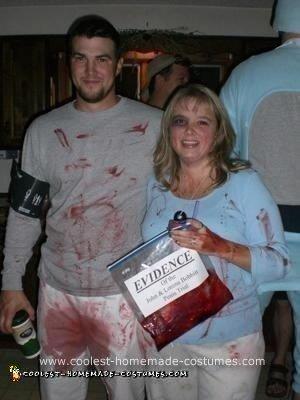 Homemade John and Lorena Bobbitt Couple Costume