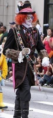 Homemade Johnny Depp Mad Hatter Costume