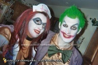 Homemade Joker and Harley Quinn (Arkham Asylum) Costume