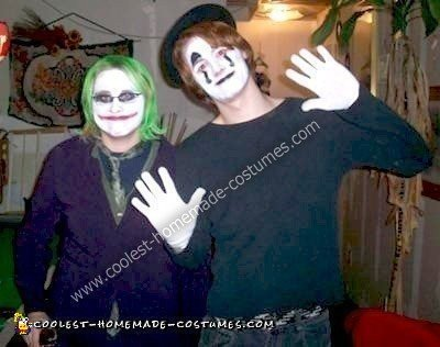 Homemade Joker and Mime Costumes