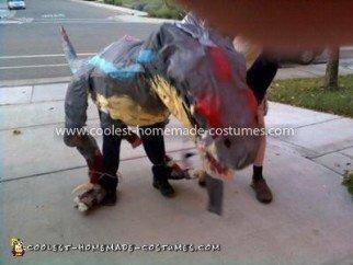 Homemade Jurassic Park III Velociraptor Costume