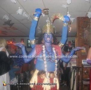 Homemade Kali Ma Hindu Goddess Costume
