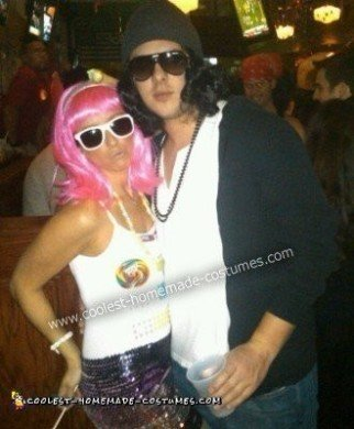 Homemade Katy Perry and Russell Brand Couple Costume