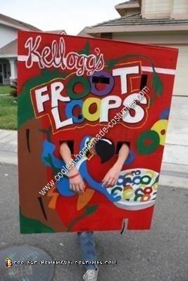 Homemade Kellogg's Froot Loops Costume
