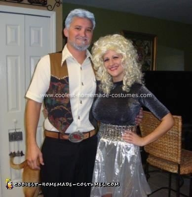 Homemade Kenny Rogers and Dolly Parton Couple Costume