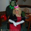 Homemade Kermit and Miss Piggy Couple Halloween Costume