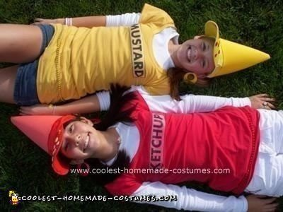 Homemade Ketchup And Mustard Couple Costume