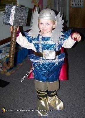 Homemade Kids Thor Costume