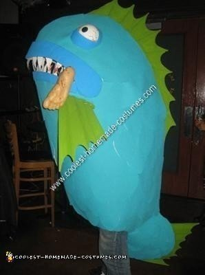 Homemade Killer Fish Halloween Costume Idea