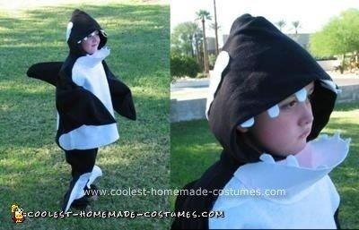 Homemade Killer Whale Costume
