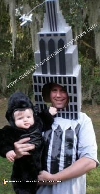 Homemade King Kong and the Empire State Building Costume - Baby Costume Ideas