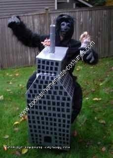 Homemade King Kong Scaling Empire State Building Halloween Costume Idea
