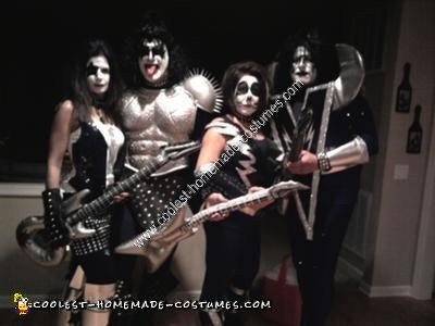 Homemade Kiss Group Halloween Costume