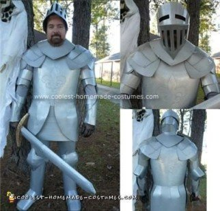 Homemade Knight In Shining Cardboard Costume