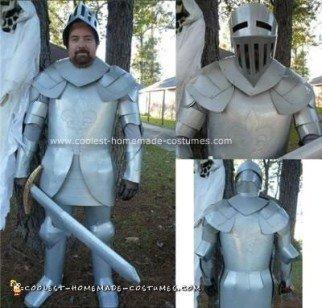 Homemade Knight In Shining Cardboard Costume