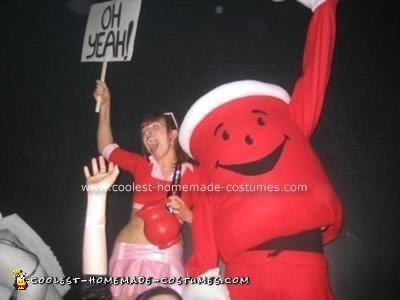 Homemade Kool Aid Man and Kool Aid Girl Costumes