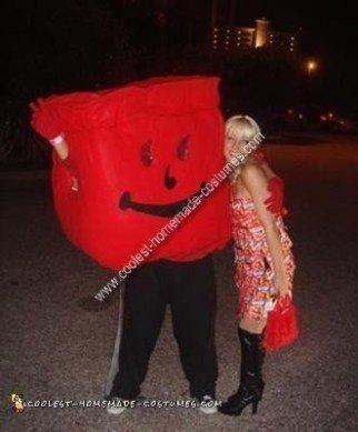 Homemade Kool Aid Man Costume