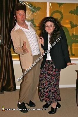 Homemade Kramer and Elaine from Seinfeld Couple Costume
