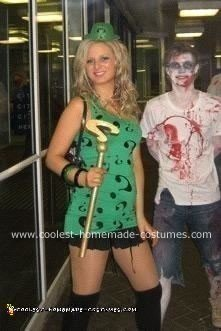 Homemade Lady Riddler Costume