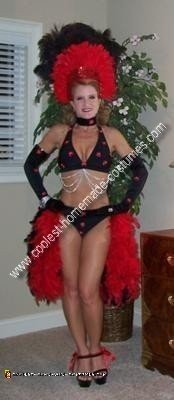 Homemade Las Vegas Showgirl Costume